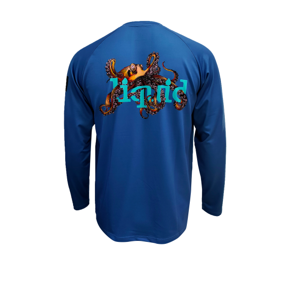 Liquid Octo Blue Shirt Back