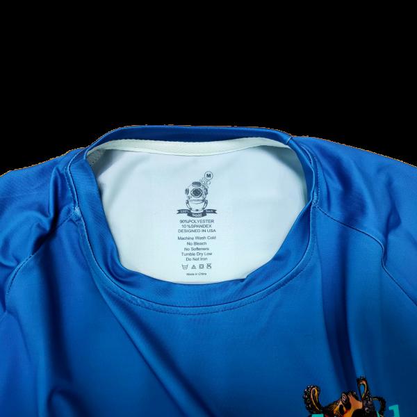 Liquid Octo Blue Shirt Tag
