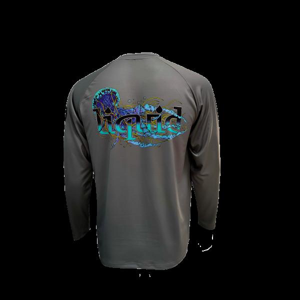 Liquid Manowar Ash Gray Shirt Back