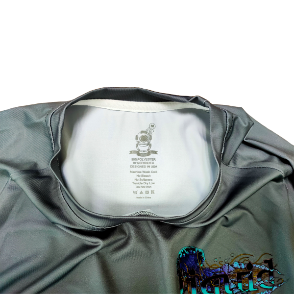 Liquid Manowar Ash Gray Shirt Tag