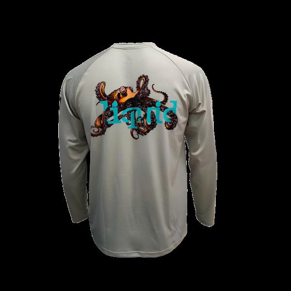 Liquid Octo Gray Shirt Back