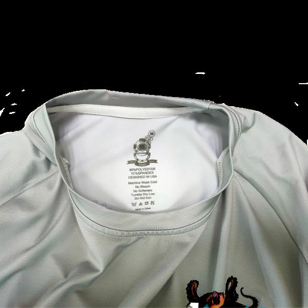 Liquid Octo Gray Shirt Tag
