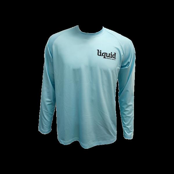 Liquid Classic Logo Fishing Shirt Sky Blue Front
