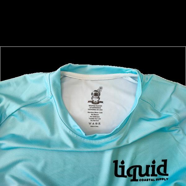 Liquid Classic Logo Fishing Shirt Sky Blue Tag