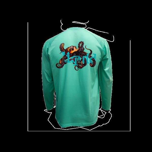 Octopus UV Shirt - Teal - back