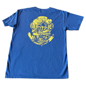 Diver Logo Tee – Navy and Gold