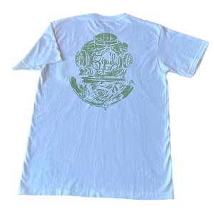 Diver Logo Tee – White and Green