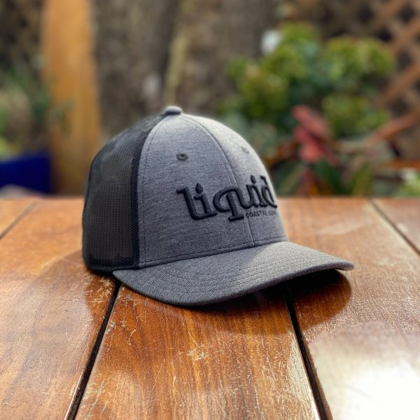 Liquid Colored Brim Hat - Black & Gray