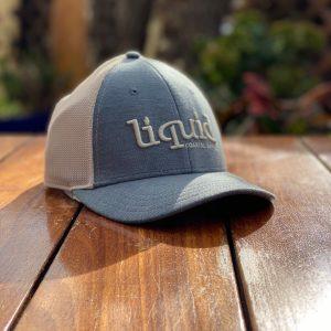 Liquid Colored Brim Hat - Denim Gray & Cream