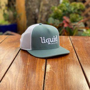 Liquid Cork Brim Hat - Hunter Green & White
