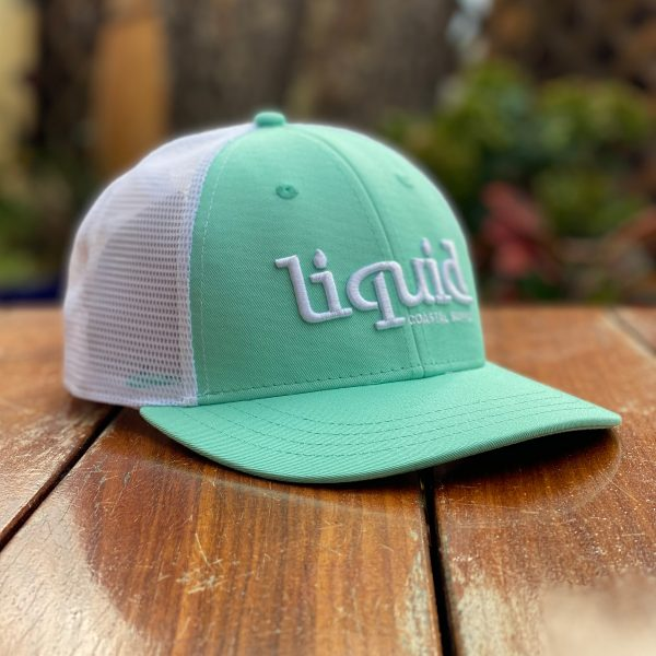 Liquid Colored Brim Hat - Mint & White