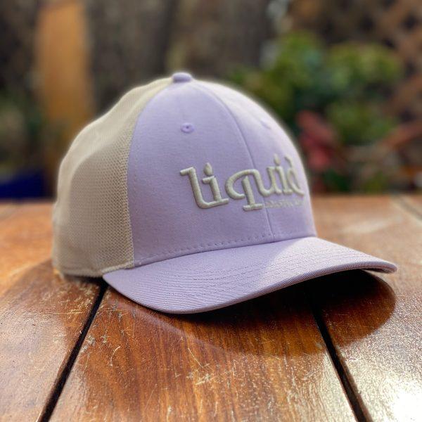 Liquid Colored Brim Hat - Pink & Cream