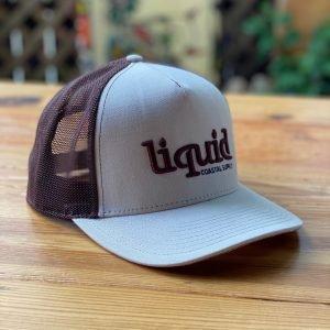 Liquid Logo Cork Hat - Tan Brown Side