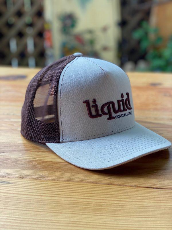 Liquid Logo Cork Hat - Tan Brown Side Close