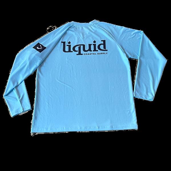 Liquid Class Logo UV Shirt - Sky Blue - Back
