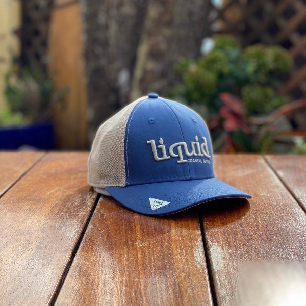 Liquid Logo Small Fit Hat - Royal & Cream