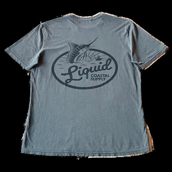 Liquid Coastal Supply - Gray Marlin Tee back