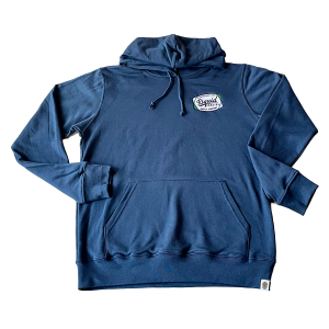 Liquid Embroidered Color Patch Hoodie – Navy