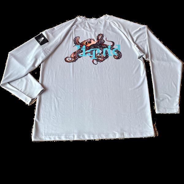 Octopus UV Shirt - Gray - Back