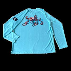 Youth Octopus UV Shirt – Sky