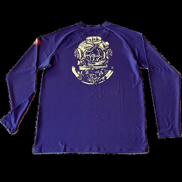 Youth Diver Down UV Shirt - Purple - Back