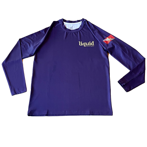 Youth Diver Down UV Shirt - Purple - Front