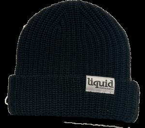 Liquid Tag Beanie – Black