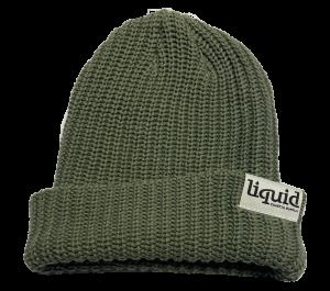 Liquid Tag Beanie – Army Green